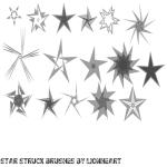Star struck brushes by Lionheart-82