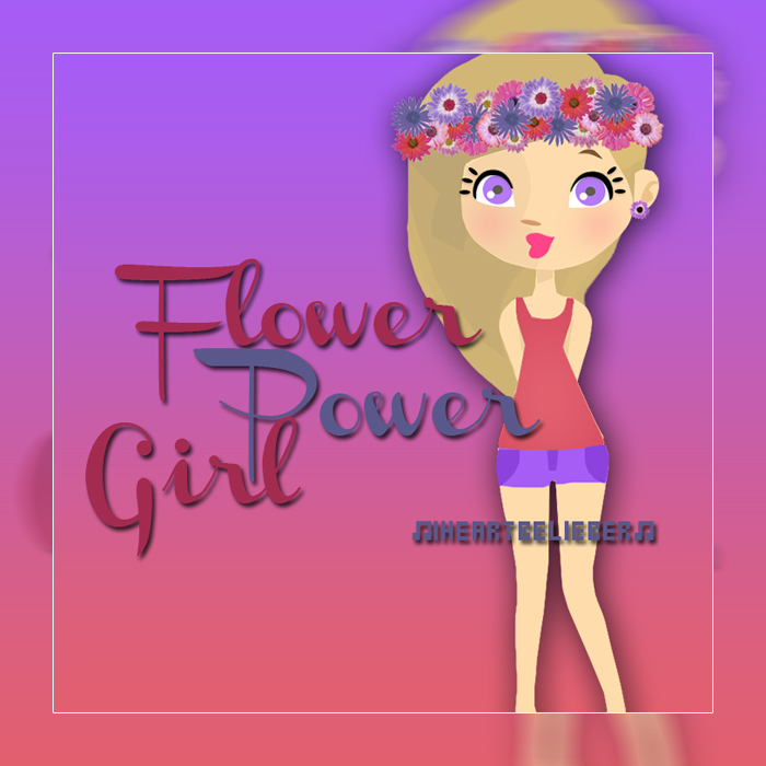FlowerPower Girl en PNG y PSD by iHeartBelieber