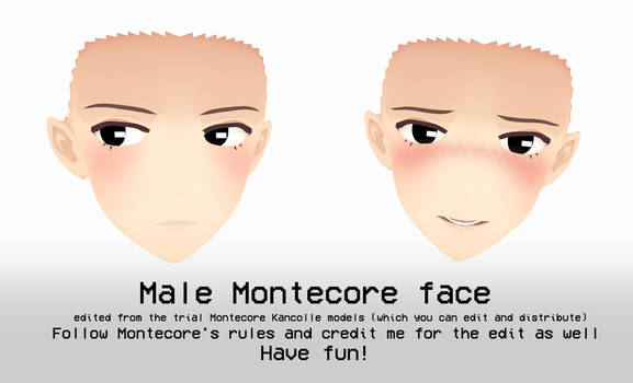 Male Montecore face edit