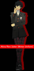 Akira/Ren/Joker [Winter Uniform] DL by Lumialle