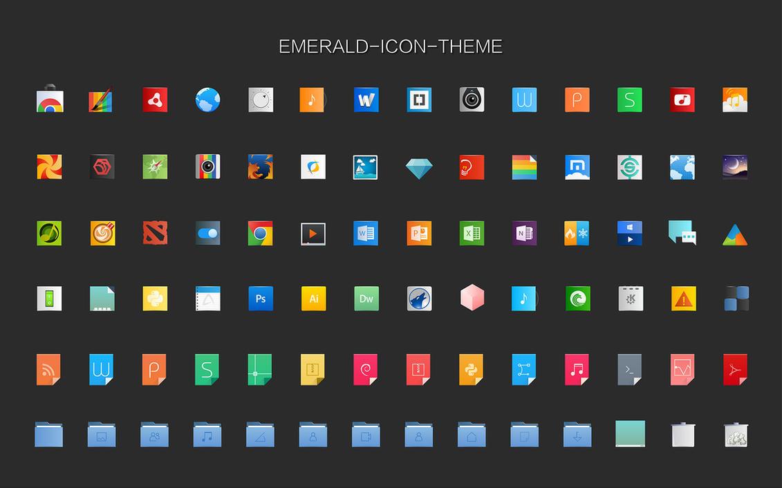 Emerald-icon-theme by vinceliuice