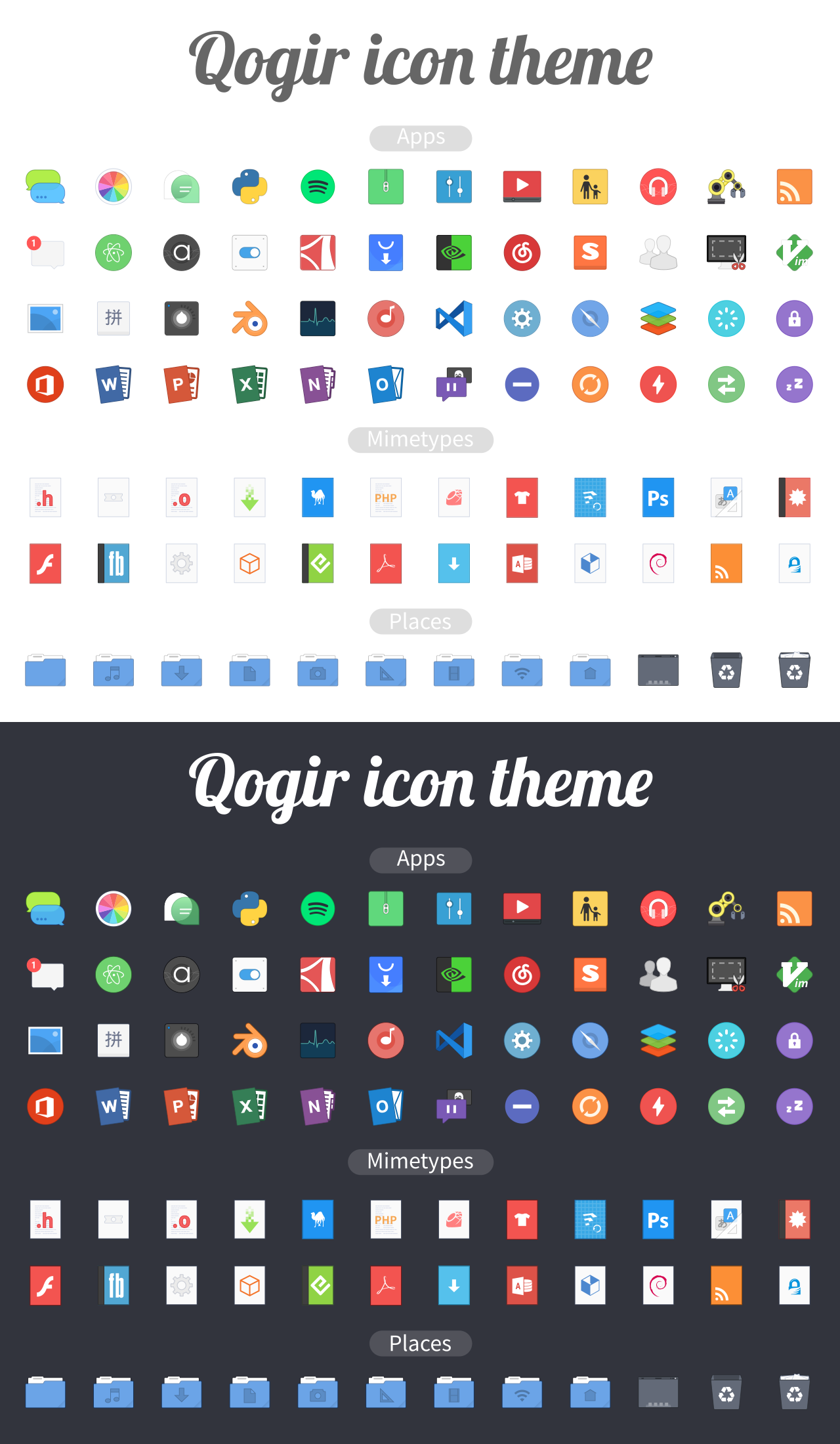 Qogir icon theme