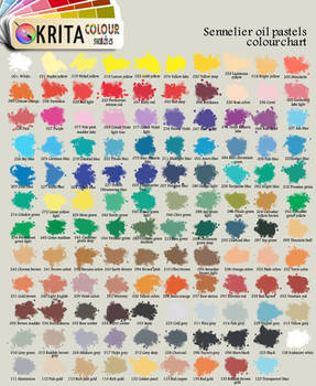 Krita oil pastels swatch