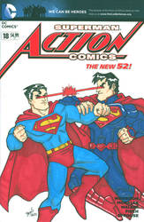 Supes v. Supes Sketch Cover 2. by hedbonstudios