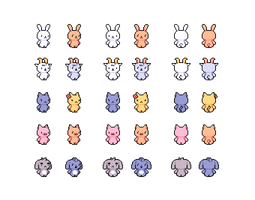 Animal Sprites 2 by emimonserrate
