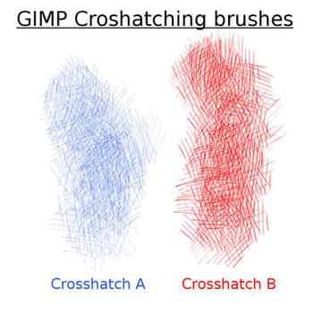 GIMP CrossHatch Brushes by Shapula