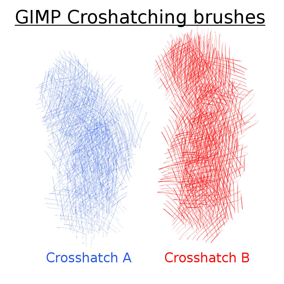 GIMP CrossHatch Brushes by Shapula