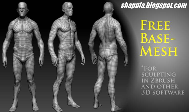 Shapula Free Base Mesh for Sculpting