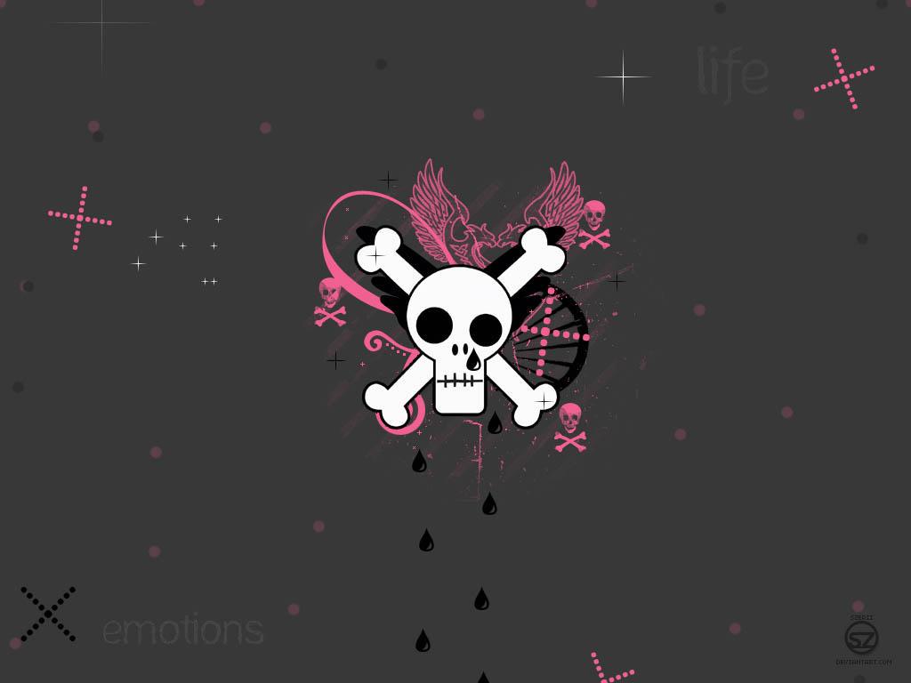 skull wallpaper by szerii on deviantart