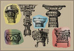 Pillars and Columns Brushes for Gimp and Photoshop