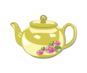 Teapot with Rose decoration