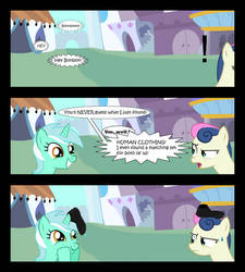 Lyra's new clothes. by BucketHelm