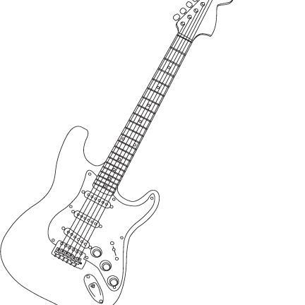 fender guitar outline - photo #5