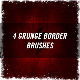 Grunge Border Brushes by joezerosum