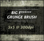 BIG F GRUNGE BRUSH