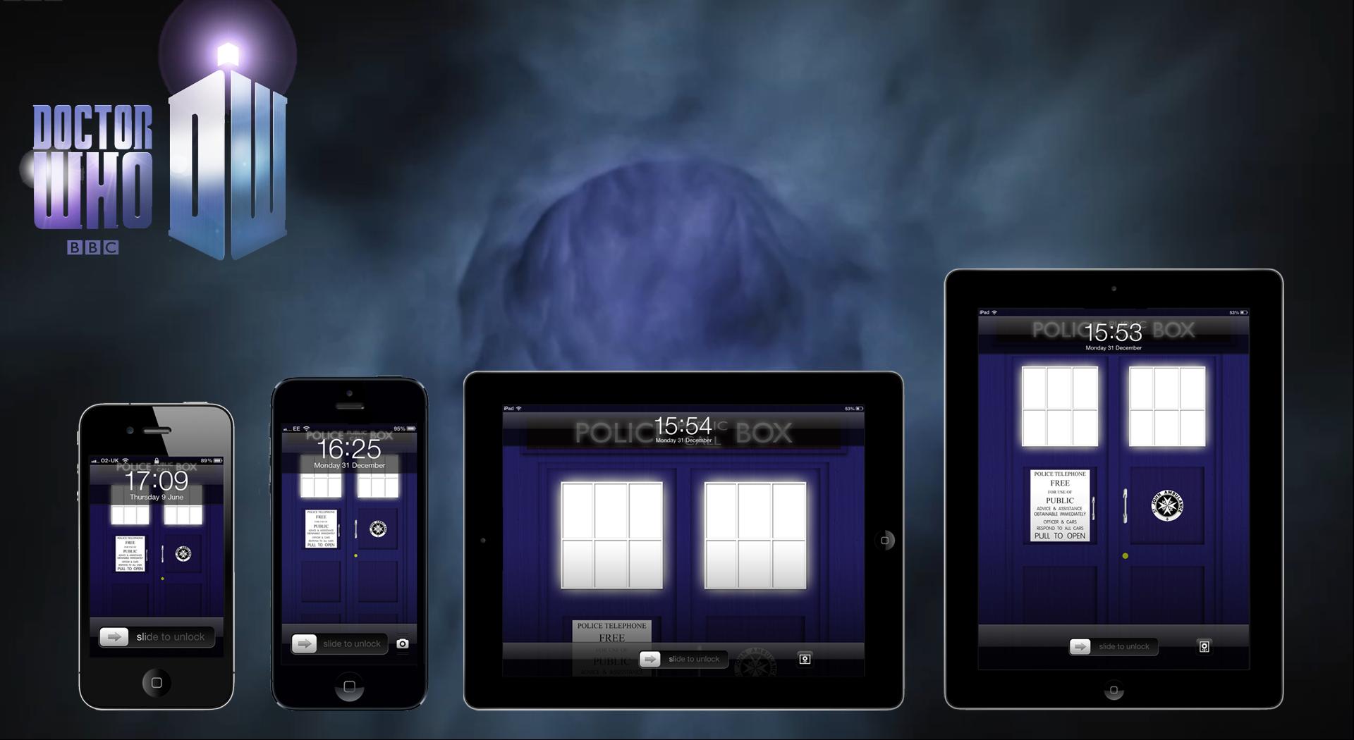 TARDIS Wallpaper - now for iPhone 5 + Retina iPads by deebeeArt