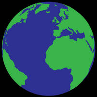 Simple Vector Earth by deebeeArt
