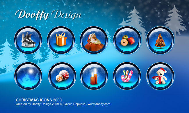 Christmas icons by Dooffy-Design