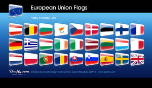FREE: European Union flags by Dooffy-Design