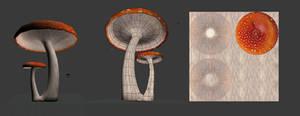 3D mushroom 2 .obj