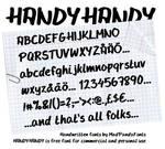 HandyHandy Font