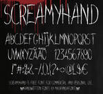 Screamyhand font