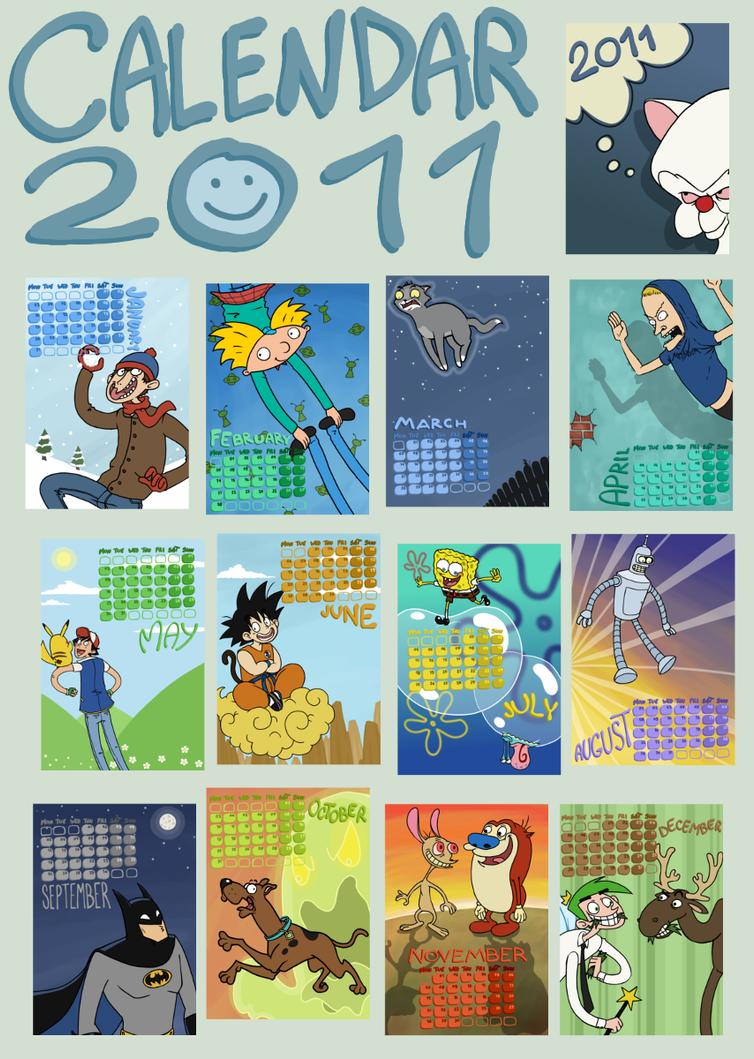 Wallpaper Calendar Superhero : Cartoon calendar by sparkyhero on deviantart