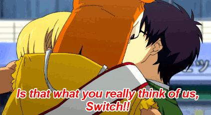 Bossun and Himeko talking to Switch