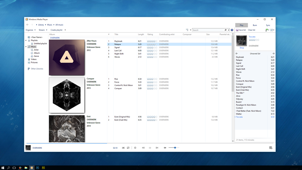 How to customize windows media player 12 in windows 10.
