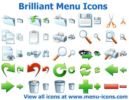 Brilliant Menu Icons by yourmailkept