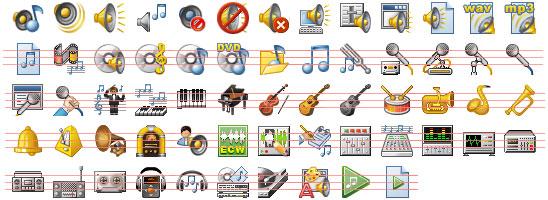 32x32 Music Icons