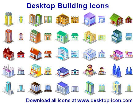 Desktop Building Icons by yourmailkept