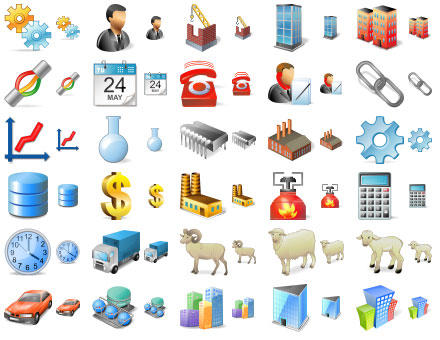 Large Factory Icons by yourmailkept