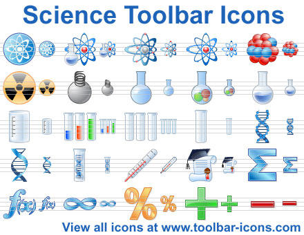 Science Toolbar Icons by yourmailkept