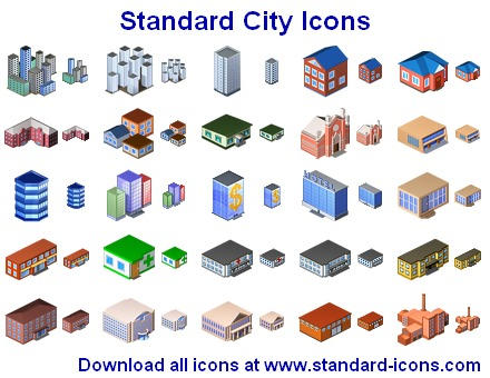 Standard Stadt Icons by yourmailkept