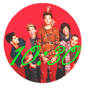 Reloj One Direction Christmas Para Rainmeter by SuperstarElevate