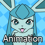 Animated Pin-Up Playful Glaceon by DTfox