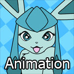 Animated Pin-Up Playful Glaceon