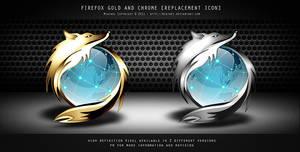 FIREFOX GOLD CHROME ICON