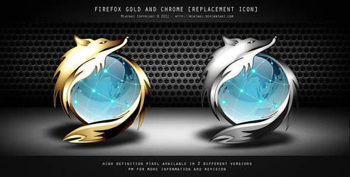 FIREFOX GOLD CHROME ICON by MIATARI