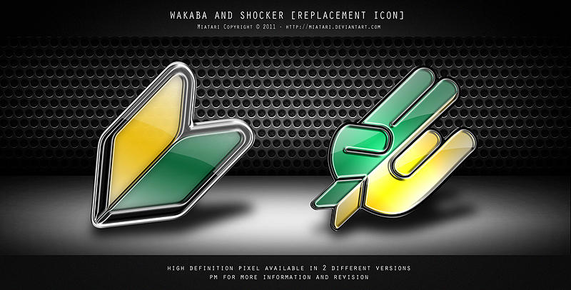 JDM WAKABA AND SHOCKER by MIATARI
