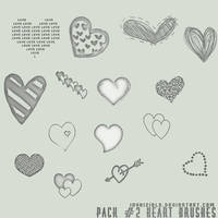 Pack num.2 Heart Brushes by invhizible