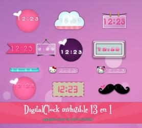 DigitalClock invhizible by invhizible