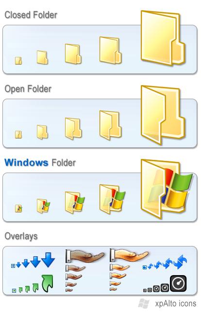 xpAlto Std Folders + Overlays by graywz