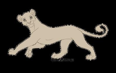 TLK - Female Lioness Lineart FREE