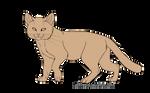 Free Sandcat Lineart