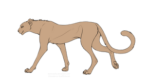Free Cheetah Lineart