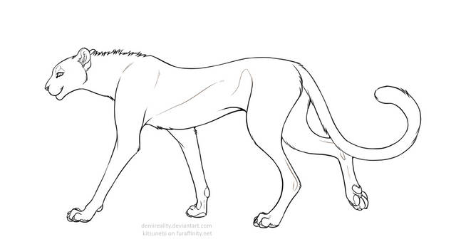 Free Cheetah Lineart (png+paint update)