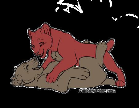 Feline Cubs Lineart FREE (png update)