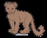 Free feline cub Lineart